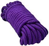 MAXSIN Soft Cotton Rope-32 feet 10m Multi-function Natural Durable Long Rope by (Purple)