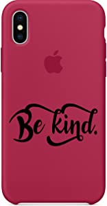 Be Kind Decal Black for iPhone X-6-7-8-Plus-Stickers-Quote Decal-Android-Cell Phone Case (Black)