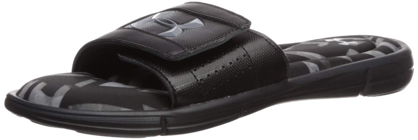 Under Armour Men's Ignite Impact V Slide Sandal, Black (001)/Mod Gray, 11 M US by Under Armour