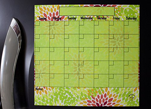 Busybeetime Flor Lime Dry Erase Magnetic Refrigerator Mon...