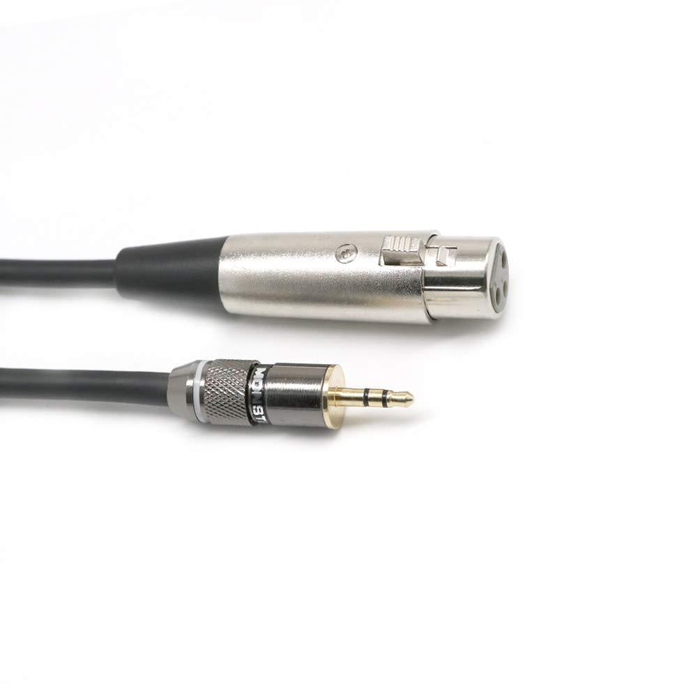 Soulitem 3 broches 3,5 mm casque st/ér/éo m/âle TRS Jack /à XLR c/âble de microphone femelle 30 cm