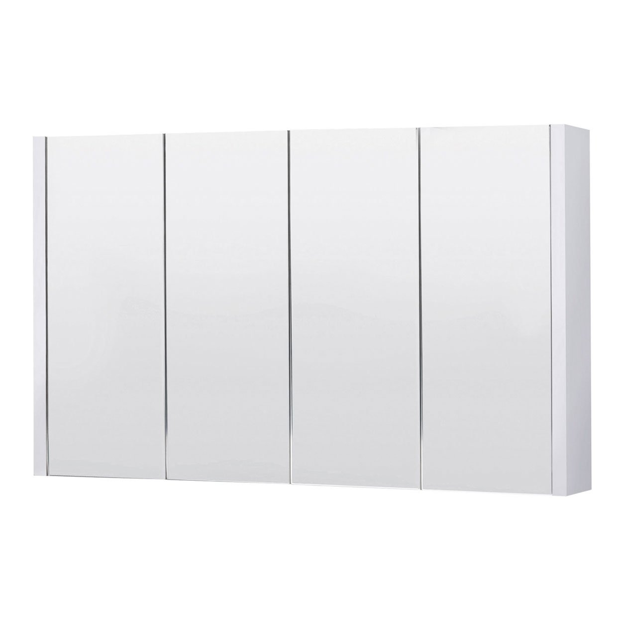 Havana White 1200mm 4-Door Mirror Cabinet: Amazon.co.uk: Kitchen ...