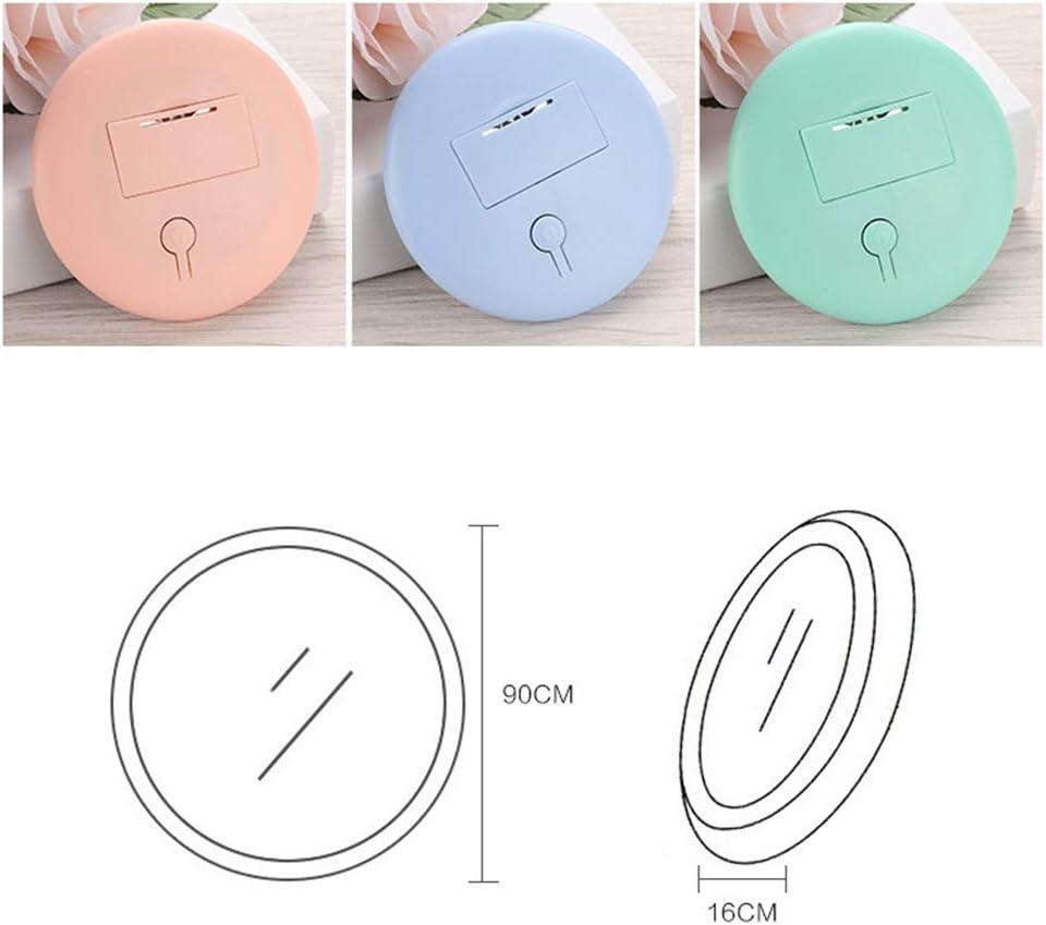 RIsxffp Kosmetikspiegel wiederaufladbar mit 12 LEDs with Battery Pink Mini-Make-up rund
