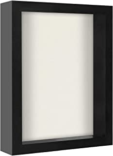 product image for flag connections 8x10 Black Shadow Box Frame with Soft Linen Back | Shatter-Resistant Glass