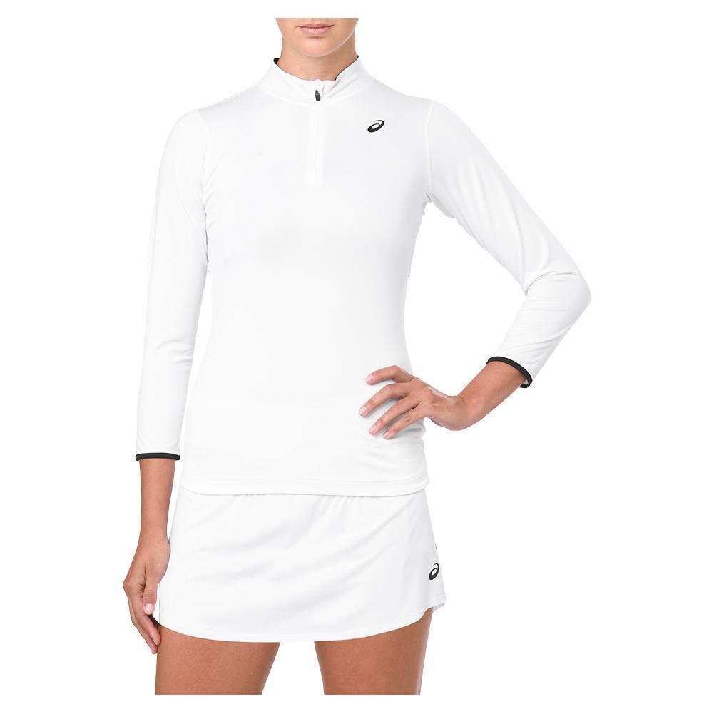 ASICS-Women`s Elite 3/4 Sleeve Tennis Top-(191497682425) Brilliant White