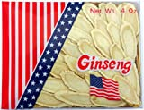Green Bay American Ginseng From Wisconsin, Large Slice, 4 OZ (Ginseng Root Slices/Sliced Ginseng Root)