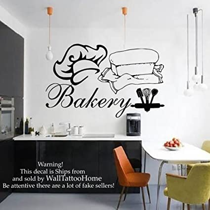 Wall Decals Bakery Decal Vinyl Sticker Home Decor Interior Design Bedroom  Kitchen Cafe Restaurant Mural Ah44