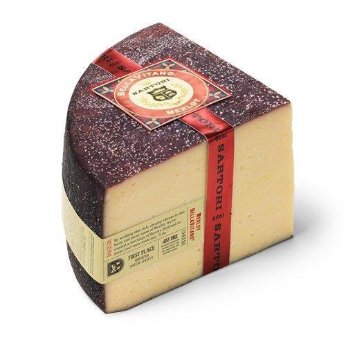 Merlot Reserve - Sartori Merlot BellaVitano Reserve Cheese - Sold by the Pound by Sartori