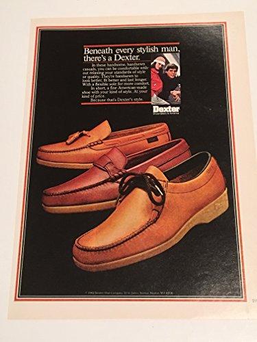- 1982 Dexter Shoes Stylish Man Magazine Print Advertisement