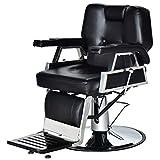 Giantex All Purpose Hydraulic Barber Chair Salon Beauty Spa Recline Barber Chair Styling Equipment Black
