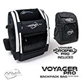 MVP Disc Sports Voyager Pro Backpack Disc Golf Bag with Forcefield Rainfly - White