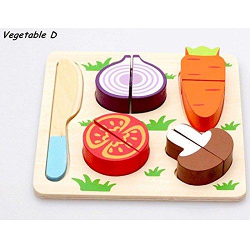 Fruits/Vegetable/Dessert Velcro Kitchen Food Set Wooden T...