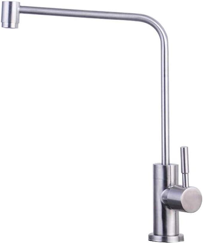 Grifo de filtro de agua pura de cocina Acero inoxidable Tirador de ...