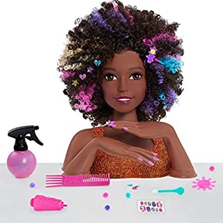 Barbie Rainbow Sparkle Deluxe Styling Head – Curly Hair