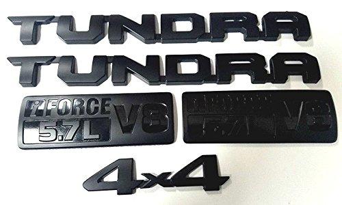 Emblem Forces (Kimoo Set (2013-2018) TUNDRA TRD PRO i Force V8 5.7L Door Emblems Badges Namplates Tailgate Badge Sticker For Toyota (Set))