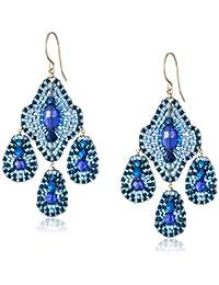 Deep Blue 3-Drop Earrings