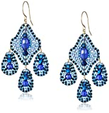 Miguel Ases Deep Blue 3-Drop Earrings
