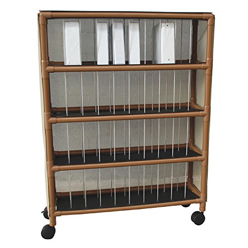 - MJM International WT2240 Wood Tone 40 Binder Capacity Chart Rack