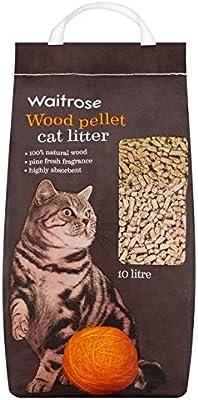 Arena para gatos de pellets de madera Waitrose 10L