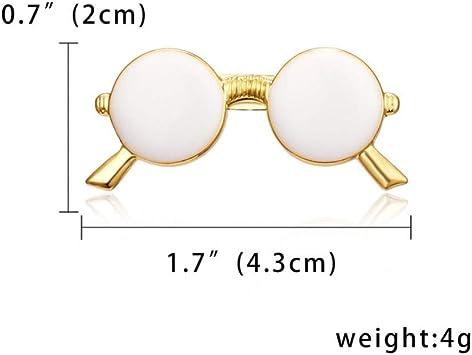 CCJIAC Moda Esmalte Gafas de Sol Gafas de Sol Alfileres Broches Traje de Hombre Camisa de Vestir Cuello Mujer Ropa de Hombre Accesorios: Amazon.es: Deportes y aire libre