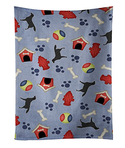 Caroline's Treasures BB3908KTWL Black Labrador Retriever Kitchen Towel, 25