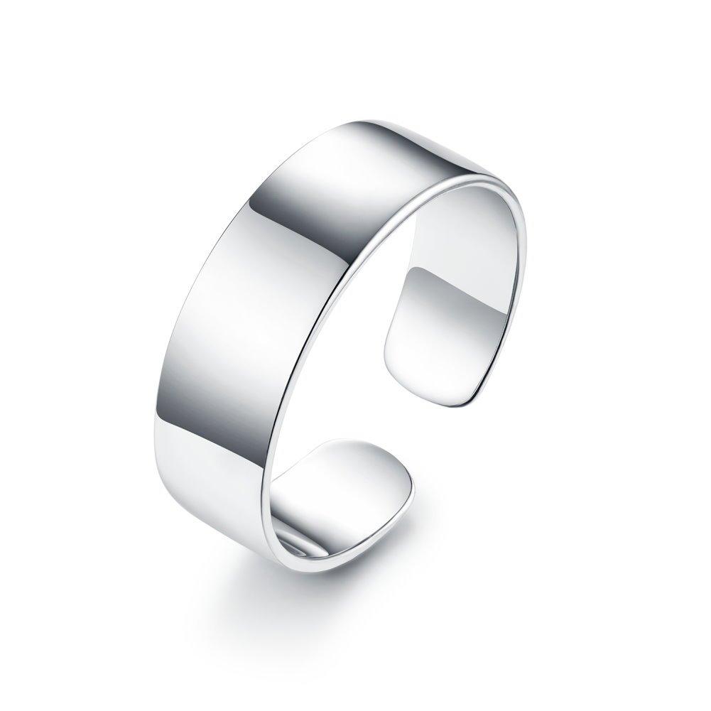 Kokoma 6mm Sterling Silver Ring (Large(Size 6.5-8.5))