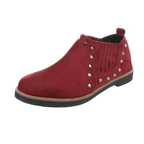 Ital-Design Zapatos para Mujer Mocasines Tacón Ancho Slipper: Amazon.es: Zapatos y complementos