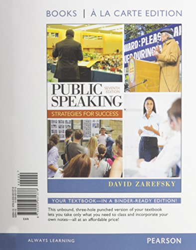 Public Speaking, Books a la Carte Plus NEW MyCommunicationLab with eText -- Access Card Package (7th Edition)