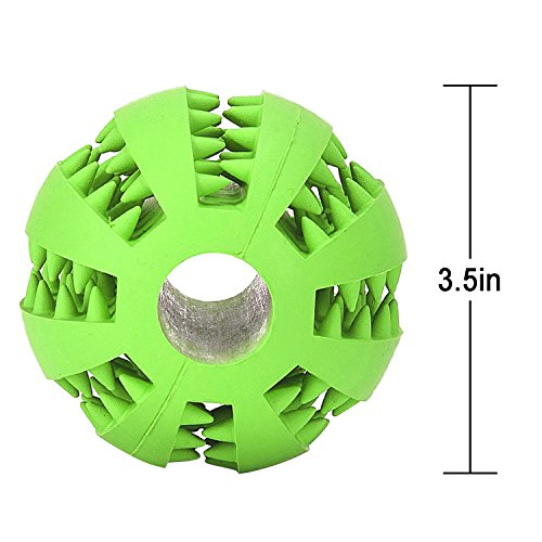 Dog-Chew-Toy-Balls-JamHoo-Durable-Soft-Rubber-Non-Toxic-Pet-Puppy-Dental-Teaser-Chew-Teeth-Cleaning-Toys-IQ-Ball-For-DogsCats-28-Inch-Green