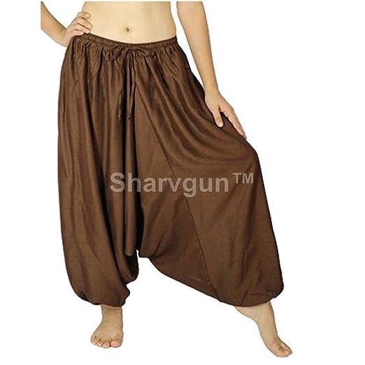 Sharvgun Unisex Baggy Hippie Boho Gypsy Aladdin Yoga Harem ...