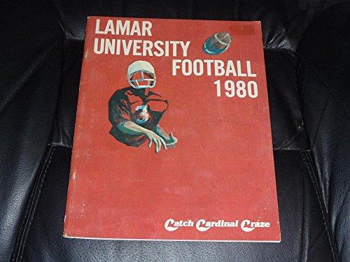 (1980 LAMAR UNIVERSITY COLLEGE FOOTBALL MEDIA GUIDE EX BOX 35)