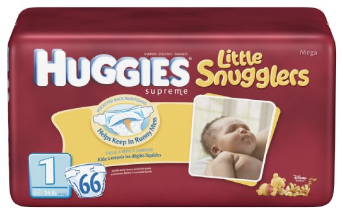 Huggies Little Snugglers Diapers 66 Count