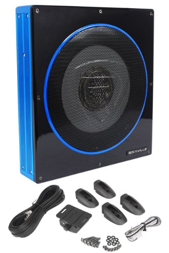 Rockville RW10CA 10″ 800 Watt Slim Low Profile Active Powered Car Subwoofer Sub