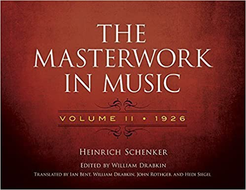 Book The Masterwork in Music: Volume II, 1926 by Schenker, Heinrich (2014)