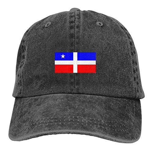 Aegatelate-hat Men Women Puerto Rico Resiste Boricua Flag Se Levanta Denim Fabric Baseball Hat Adjustable Trucker Cap