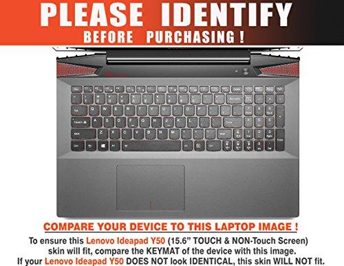 "Decalrus - Lenovo Ideapad Y50 (15.6"" Touchscreen / Non-Touch Screen) laptop ORANGE Carbon Fiber skin skins decal for case cover wrap CFideapadY50Orange"