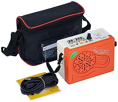 Electronic Shruti Box - Swar Sudha Shruti Box, Shruti Box Sampler, Digital Shruthi Box, Surpeti, Instruction Manual, Bag, Power Cord (PDI-HB) by Swar Sudha by buyRaagini