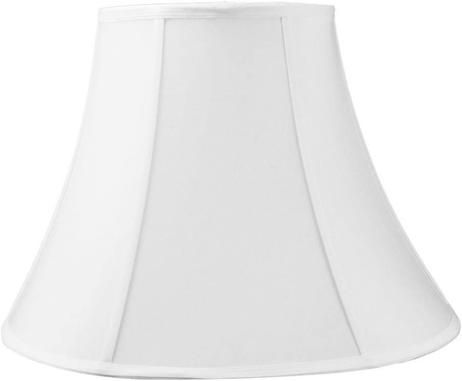6x12x9.5 White Shantung Bell Lampshade – Perfect for Small Table Lamps, Desk Lamps, and Accent Lights -Medium, White