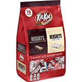 HERSHEY'S and KIT KAT Snack Size Assortment, Halloween Candy, 70 Pieces