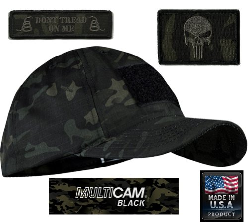MULTICAM-BLACK Tactical Patch & Hat Bundle