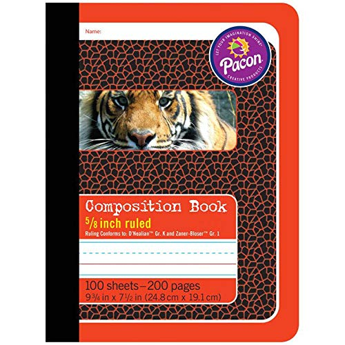 PACON CORPORATION COMPOSITION BOOKS 5/8IN RULED (Set of 6)