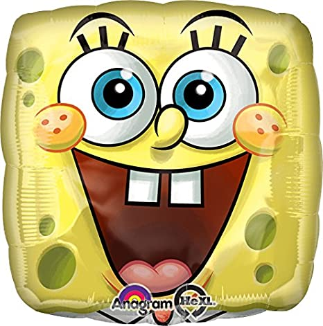 Amazon.com: Anagram Internacional de Bob Esponja Face Globo ...