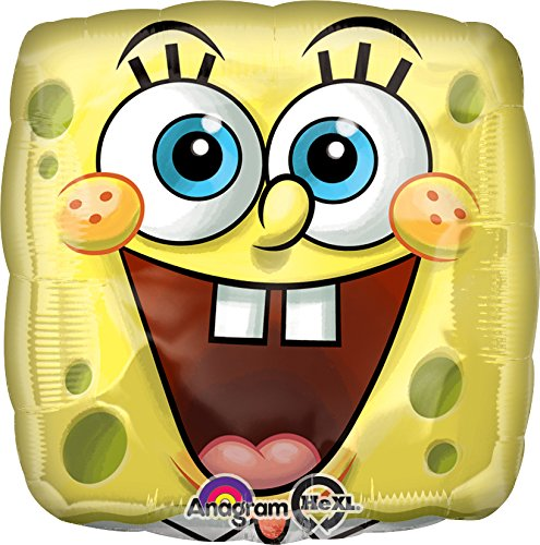 Anagram International Spongebob Square Face Foil Balloon Pack, Multicolor