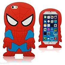 iPhone 6 case,3D spider-man Silicone Jelly Soft Skin Case for iPhone 6 4.7inch