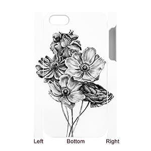 3D IPhone 4/4s Case Flower Bouquet, Ancos, [White]
