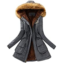 KuoShun Hot Sale Winter Coats For Women Clearance Warm Cotton-Padded Coat Parka Outdoor Long Jacket