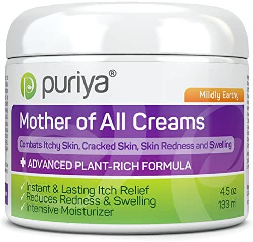 Puriya Intensive Moisturizer for Dry Cracked Skin. Gentle Body Lotion, Hand, Foot, Face Cream- Award Winning - Plant Based Instant Lasting Relief. Hydrates and Softens Rough Skin (Mildly Earthy)