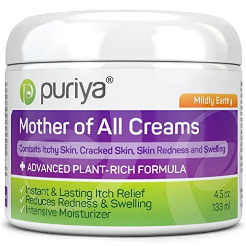 (Puriya Plant Based Cream for Eczema, Psoriasis, Dermatitis and Rashes. Excellent Relief for Irritated, Severely Dry and Cracked Skin (Mildly Earthy, 4.5 oz) )