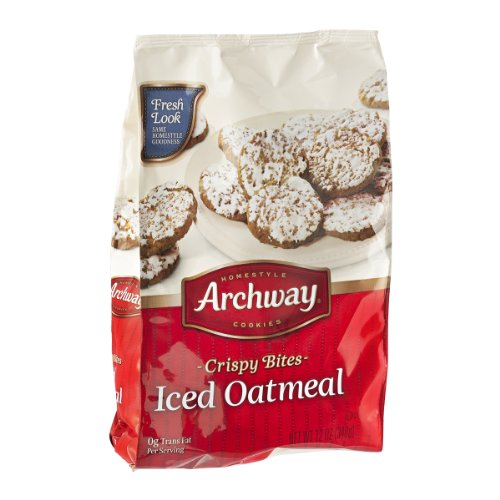 Archway Homestyle Cookies Crispy Bites Iced Oatmeal