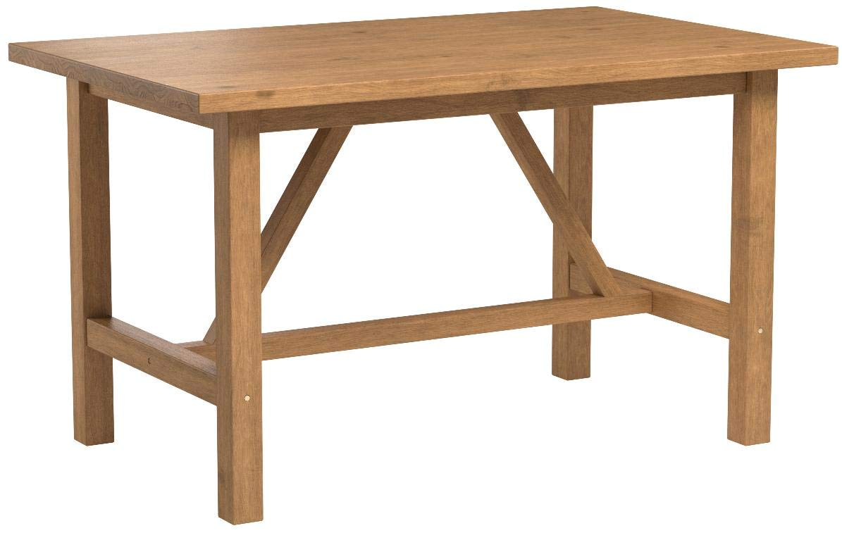 Zinus Brandon Detailed Dining Table in Natural Finish by Zinus (Image #7)